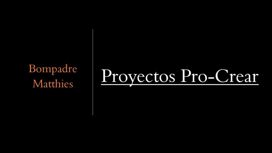 Proyectos Pro-Crear